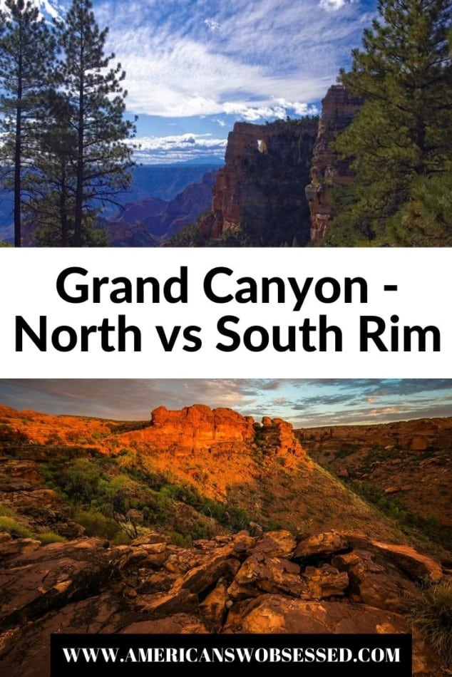 grand canyon south rim vs north rim