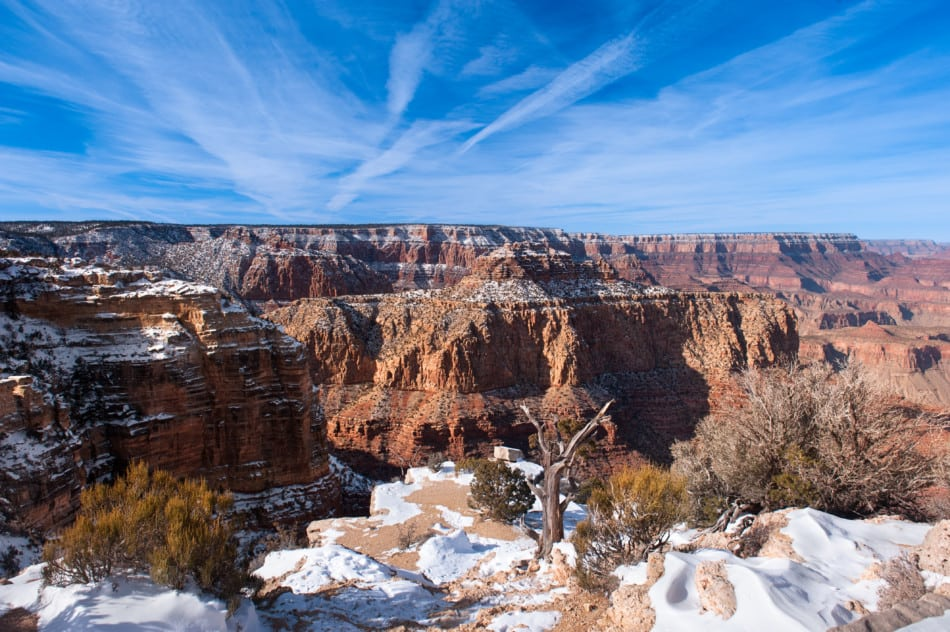 Lipon Point Grand Canyon in February