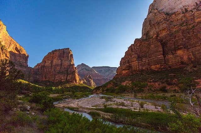 zion national park in january