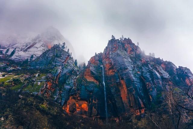 zion national park snow